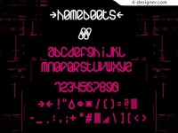 Clever deformation English font