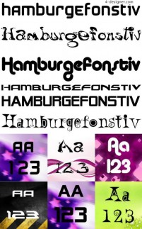Common personality English font 03