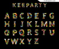Creative Keeparty English fonts footage