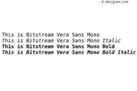 Font design commonly recommended by vera_sans_mono font
