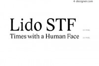 Font design commonly recommended the Lido STF font