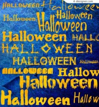 Halloween Fonts material