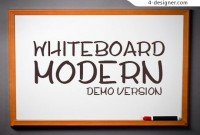 Hand painted style font demo board material