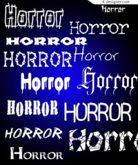 Horror fonts footage