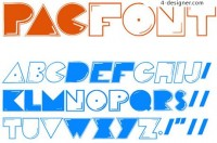 Pac Font English fonts footage