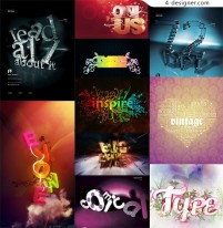 The most worthy collection of special effects font 03