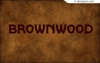 Retro English font Brownwood
