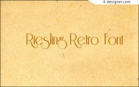 Retro English font riesling