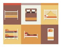 9 bed furniture icon