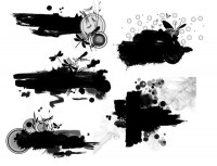 10 Paragraph Ink Ink brush pattern of Chinese style