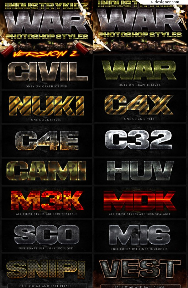 21 new effects psd font style