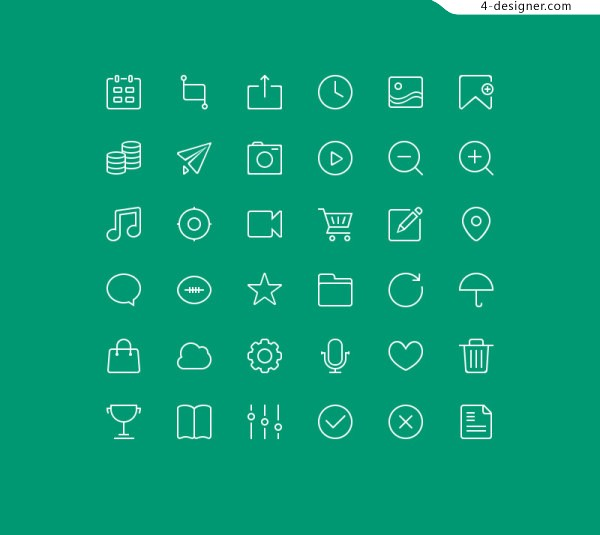 APP linear material PSD web icon free download