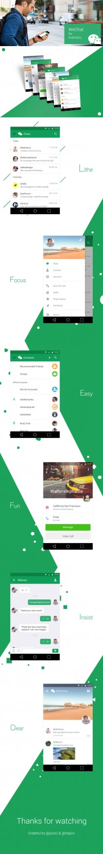 Android L style based on a complete micro channel design PSD APP free download