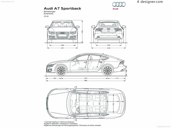 Audi A7 model reference three views foreign websites boutique footage