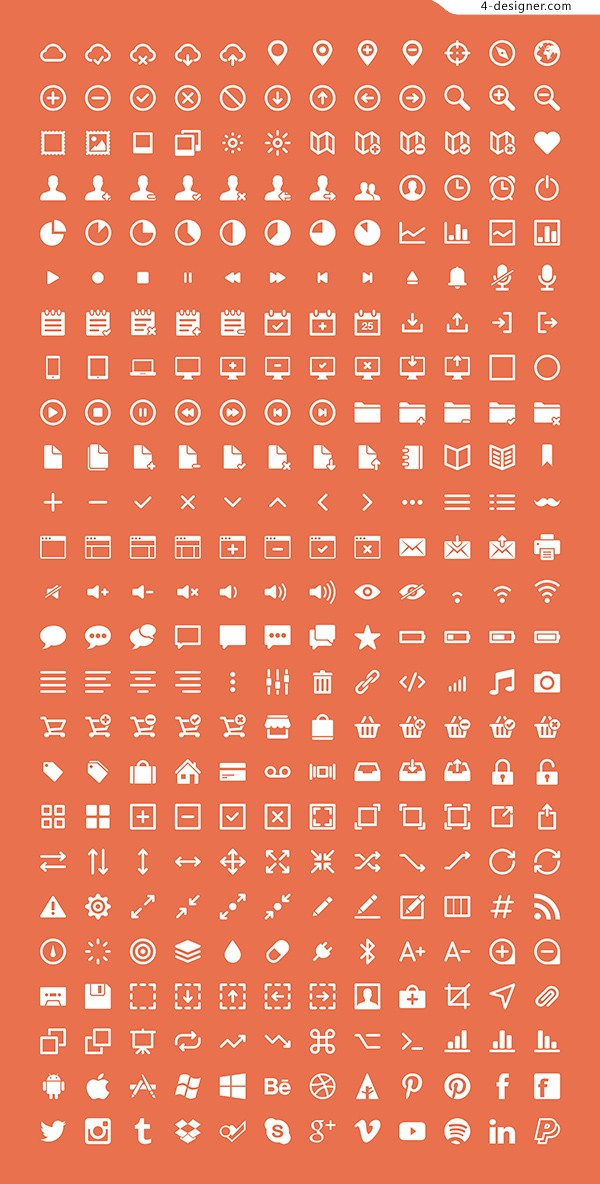 Excellent fine APP web icons PSD free download