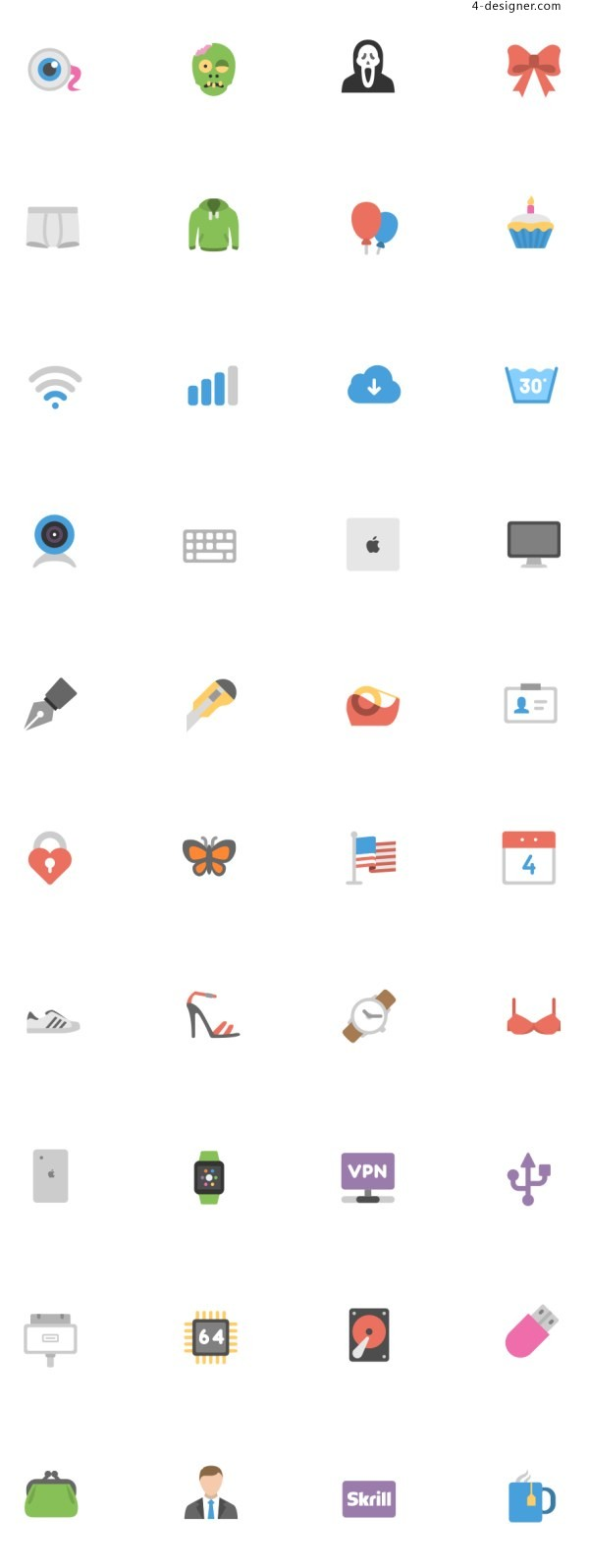 Flat Icon Pack AI SVG EPS PSD PNG