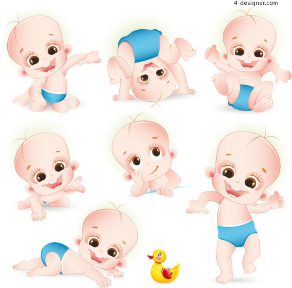Cartoon baby vector material