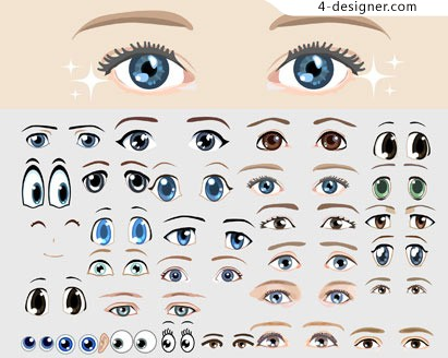 Cartoon eyes vector material summary