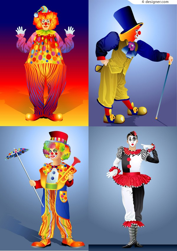 Clown illustrator vector material