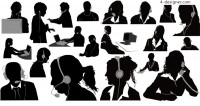 Customer service silhouette vector material