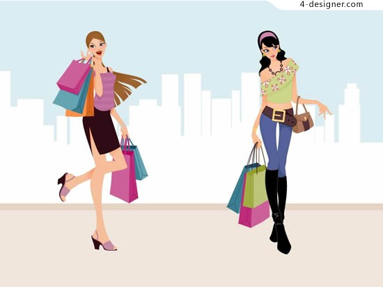 Fashion beauty vector shopping shopping