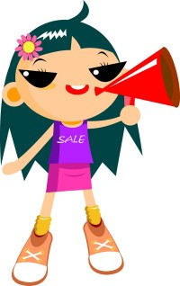 Little girl holding a horn promotional free download
