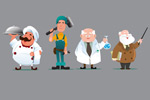 Professional free download cartoon characters