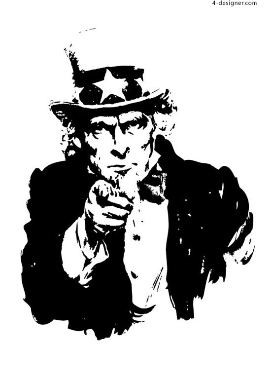 Uncle Sam illustrations vector material