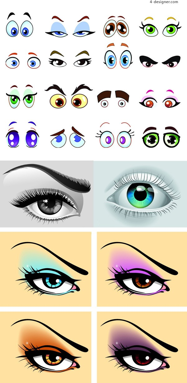 Vector drawing eyes free download