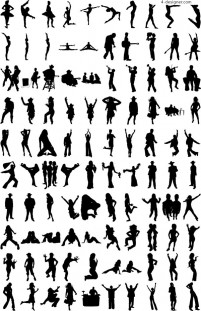 1000 albums of various silhouettes vector material 3