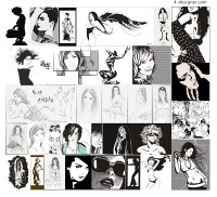 21 of the women vector material