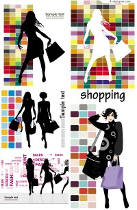 Fashion shopping beautiful silhouettes