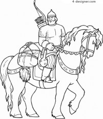 Foreign old knight vector material eps format vector characters