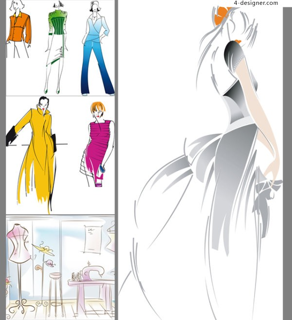 Mannequins vector material