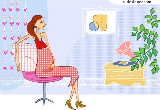 Pregnant mother Vector material