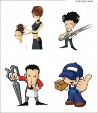 Vector industry characters