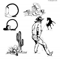 Wrangler black and white vector material