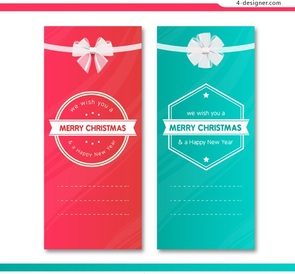 2 color Christmas banner vector material