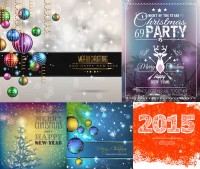2015 Christmas and New Year s lob theme vector material free download
