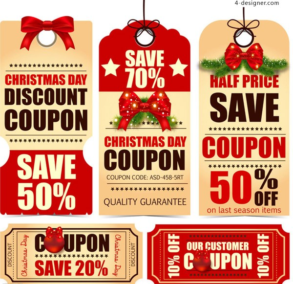 2015 Christmas discount tags