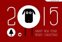 2015 Year of the Ram material AI Vector cartoon free download