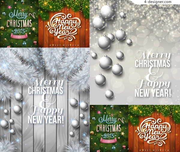2015 and Christmas and other holiday theme vector material