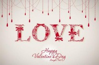 Valentine love pattern background image