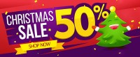 5 discount malls exquisite Christmas Promotions Banner material