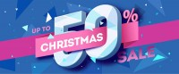 50 off Christmas Promotional Banner Vector material