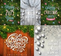 Beautiful Christmas festival element vector material
