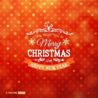 Beautiful Christmas red snowflake background vector material