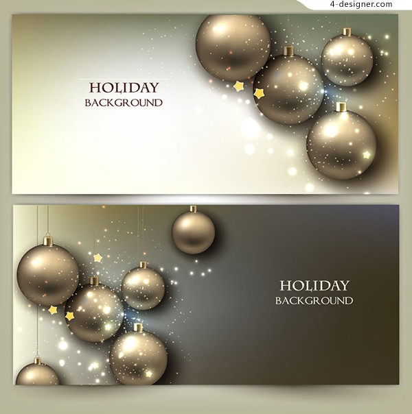 Christmas advertising element vector material
