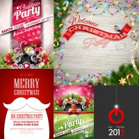 Christmas and New Year theme for creative design vector material Free Download