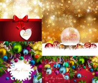 Christmas and other dazzling light effects background and lob vector material Free Download
